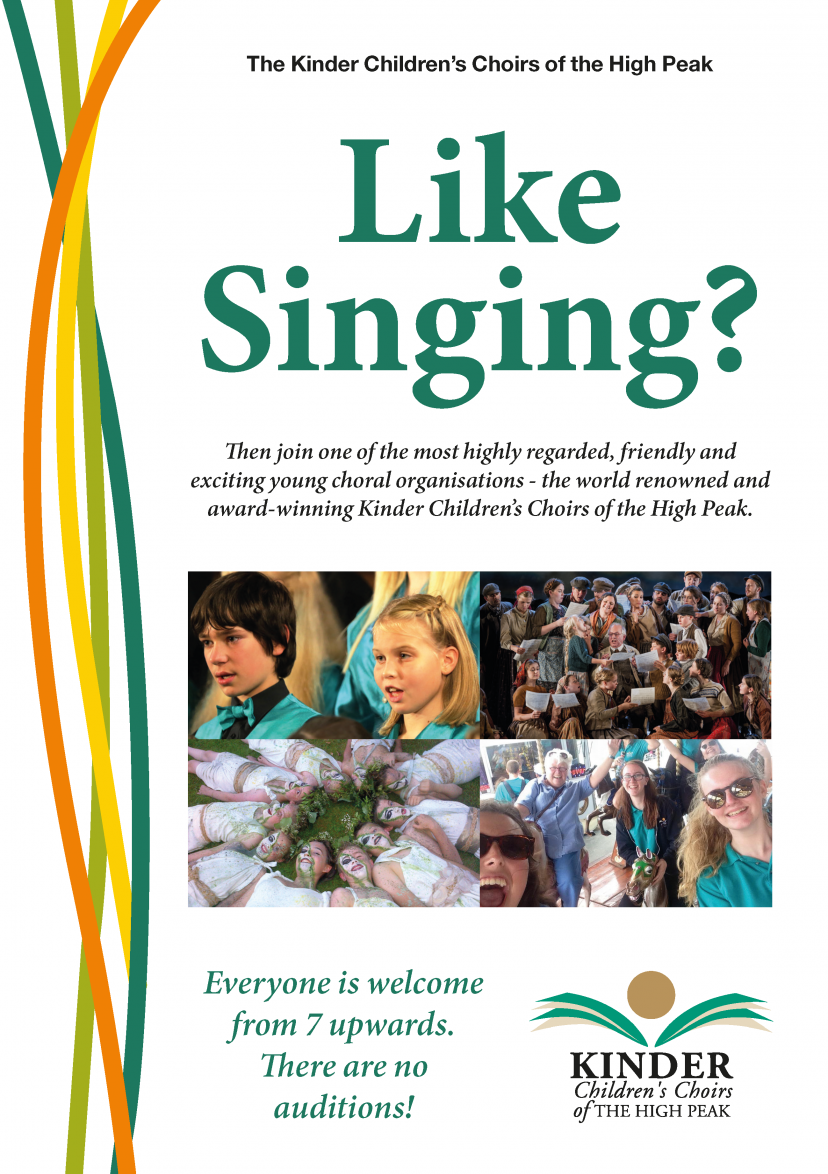 Image of paper copy of Kinder Choir Recruitment Flye